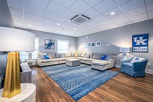 Gamma Iota's TV lounge