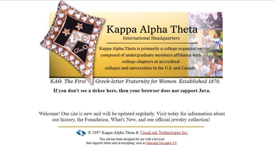 Kappa Theta Alpha website 2008