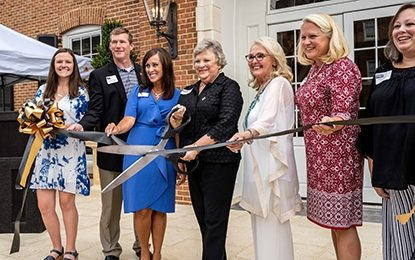 Delta Omicron Ribbon Cutting