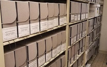 Theta archives shelves