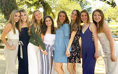 Aubrey and the other members of Alpha Phi's 2019 executive board