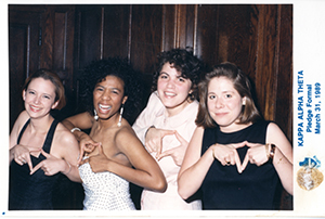 Iota/Cornell new members at formal, 1989.