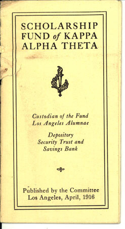 Scholarship fund publication