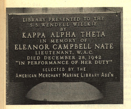 Library dedication plaque